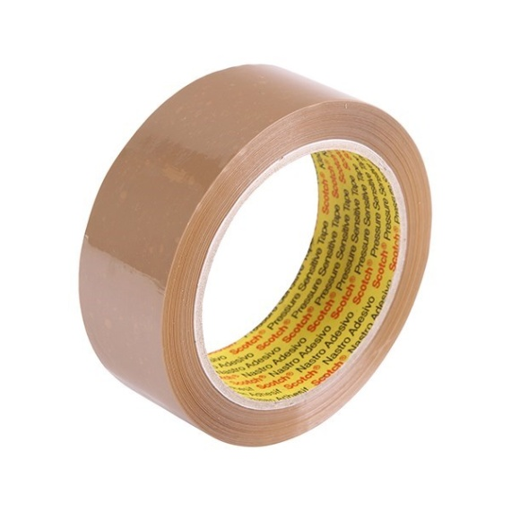 3M 370 Hot Melt Packaging Tape (Brown) 36mm x 75m x 6 rolls