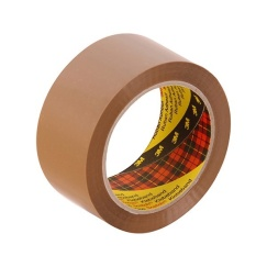 3M 370 Hot Melt Packaging Tape (Brown) 48mmx 75m x 6 rolls