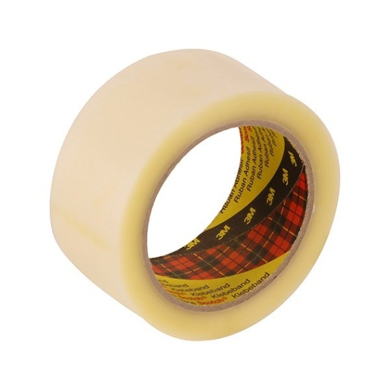 3M 370 Hot Melt Packaging Tape (Clear) 48mm x 75m x 6 rolls