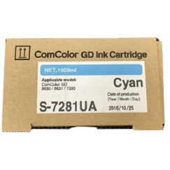 Riso ComColour GD Ink Cartridge - Cyan (S-7281UA)